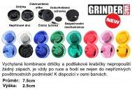GrinderVac, Vacuum Grinder, podtlaková přenoska s drtičkou, různé barvy