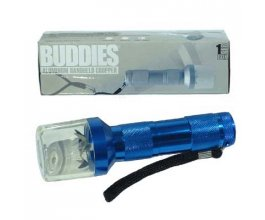 Elektrická drtička BUDDY METAL FLASHLIGHT, modrá
