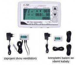 GSE regulátor s LCD displejem pro 2 EC ventilátory