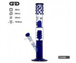 Skleněný bong Grace Glass Cane modrý, 38cm