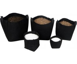 Tex Pot textilní květináč černý, 15L