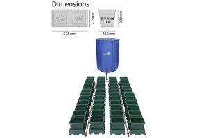 Autopot Easy2grow Kit se 48 květináči, včetně 400L Flexitank