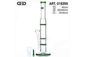 Skleněný bong Grace Glass Cane průhledný, 44cm