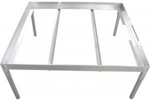 Pevný ocelový stůl pro EBB&FLOW napouštěcí vany 100x110xcm