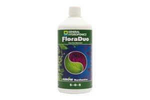 General Hydroponics FloraDuo Grow pro tvrdou vodu, 1L