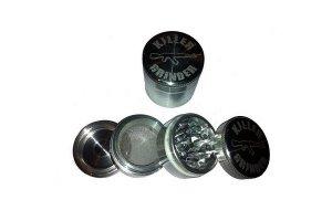 Drtička KILLER 50mm stříbrná, kovová, se sítkem, 4 dílná