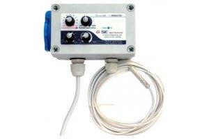 GSE Digitalní regulátor teploty, min&max rychlosti ventilatoru a hystereze - 10A